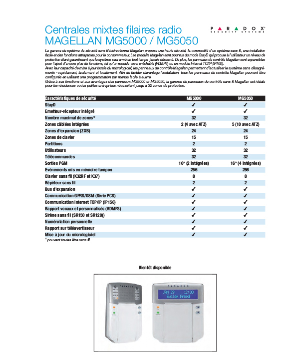 MG5000 - 5050 PARADOX