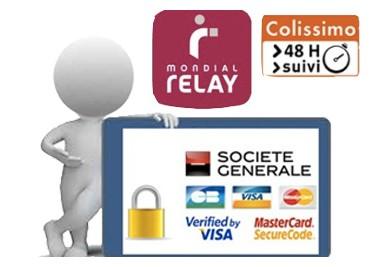 paiement carte visa vérifier et transport